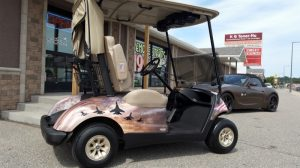 Yamaha Golf Cart Audio System for Tee It Up for the Troops Charity Event